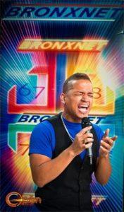 Jose mid-song on Bronxnet