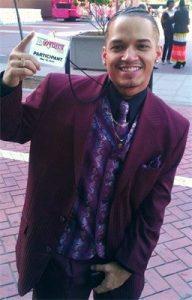Jose holding pass for Gospelfest