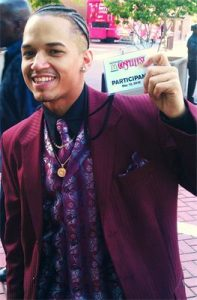 Jose holding Gospelfest pass