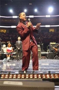 Front row picture of Jose at Gospelfest