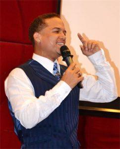 Jose giving speech