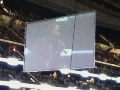 Concert Jumbotron showing Jose